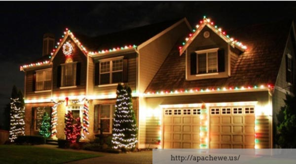 How to Hang Christmas Lights without Damaging Your Home's Exterior